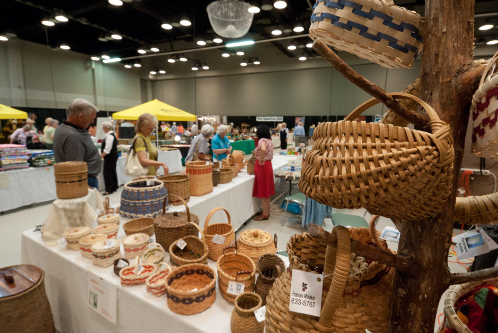 Baskets for sale at craft fair